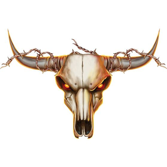 Hot Stuff Sticker - Cow Skull, Vinyl, , scaau_hi-res