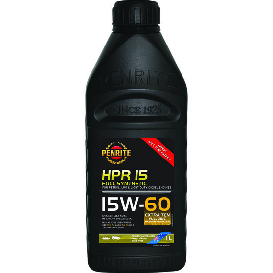 Penrite HPR 15  Engine Oil - 15W-60 1 Litre, , scaau_hi-res