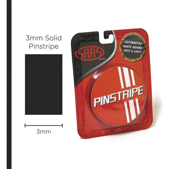 SAAS Pinstripe Solid Black 3mm x 10m, , scaau_hi-res