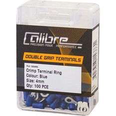 Crimp Terminal Ring Blue 4mm 100Pk, , scaau_hi-res