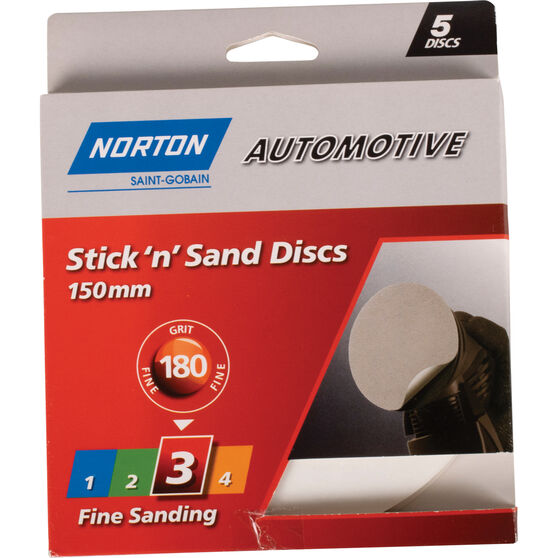 Norton Sticky Disc - 180 Grit, 5 Pack, , scaau_hi-res