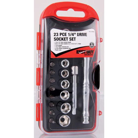 SCA Socket Set - 1 / 4 inch Drive, Metric, 23 Piece, , scaau_hi-res