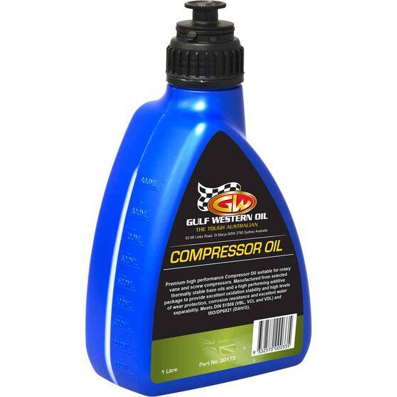Gulf Western Compressor Oil 1 Litre, , scaau_hi-res
