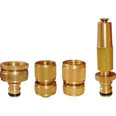 Brass Garden Hose Set - 4 Piece, , scaau_hi-res