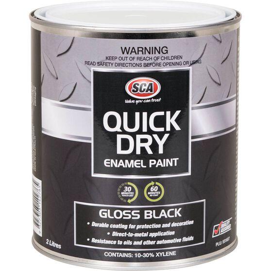 Quick Dry Enamel Black 2 Litre, , scaau_hi-res