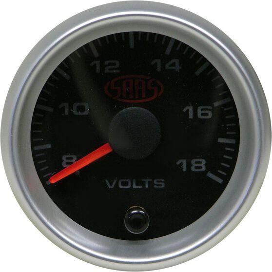 SAAS Volt Gauge - Black, 52mm, , scaau_hi-res