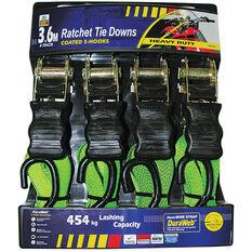 Ratchet Tie Down - 3.6m, 454kg, 4 Pack, , scaau_hi-res