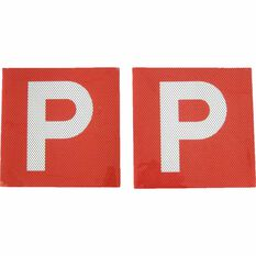 SCA P Plate - Clear Vision, Red, VIC/WA, 2 Pack, , scaau_hi-res