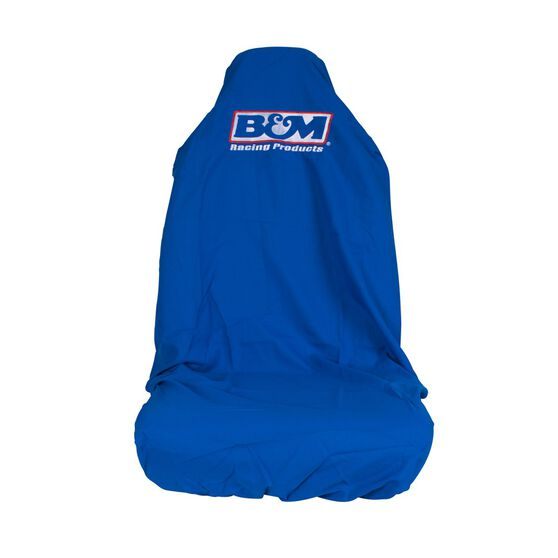B&M Car Seat Cover - Blue, Built-in Headrest, Size 60, Slip On, Single, , scaau_hi-res