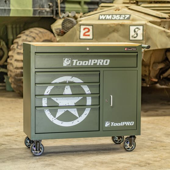 ToolPRO Army Star Tool Cabinet 5 Drawer 41 Inch, , scaau_hi-res