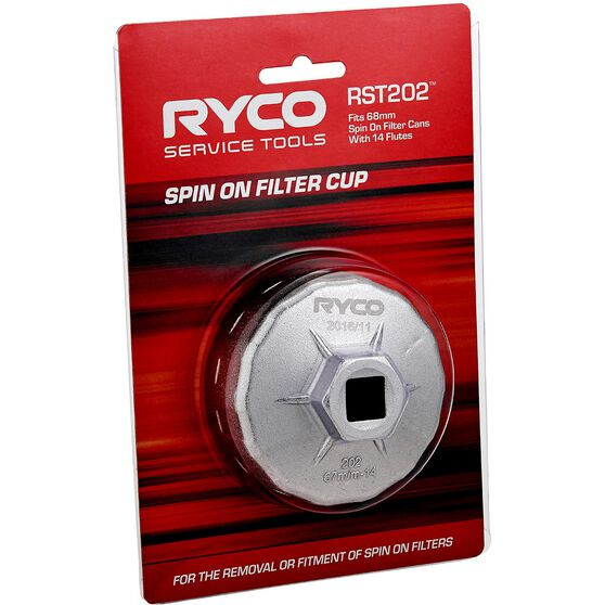 Ryco Oil Filter Cup Wrench - RST202, , scaau_hi-res