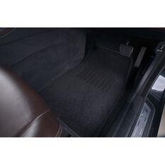 SCA Reversible Car Floor Mats Carpet/Rubber Black Set of 4, , scaau_hi-res