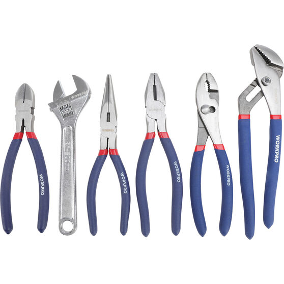 WORKPRO Plier & Wrench Set - 6 Piece, , scaau_hi-res