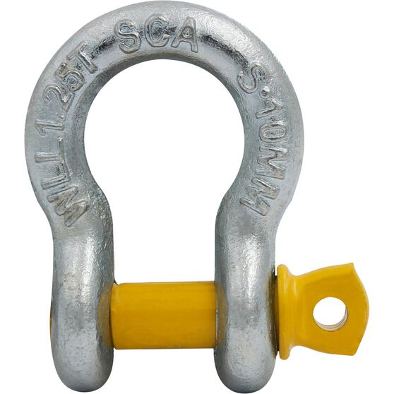 SCA Bow Shackle - Rated to 1250kg, Galvanised, 10mm, , scaau_hi-res