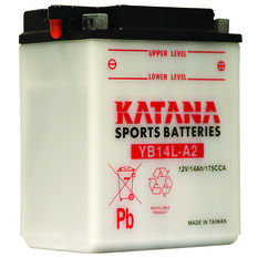 Katana Powersports Battery YB14L-A2, , scaau_hi-res