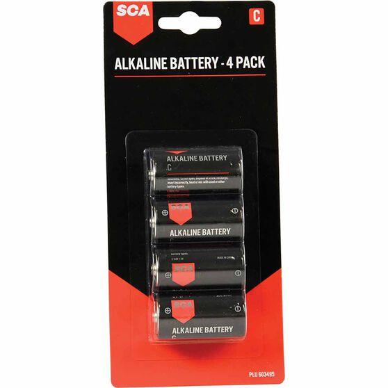SCA Alkaline C Batteries 4 Pack, , scaau_hi-res