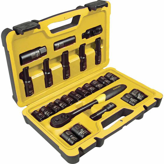"Stanely 1/2"" Socket Set - 25 Piece, , scaau_hi-res"