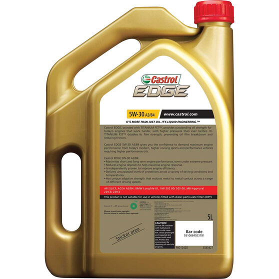 Castrol EDGE Engine Oil - 5W-30, A3/B4, 5 Litre, , scaau_hi-res