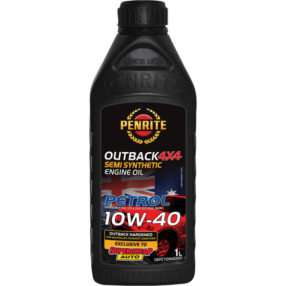Penrite Outback 4x4 Semi Synthetic Petrol Engine Oil - 10W-40 - 1 Litre, , scaau_hi-res