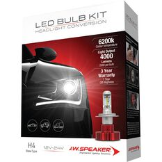 J.W. Speaker Headlight Conversion Kit - LED H4, , scaau_hi-res