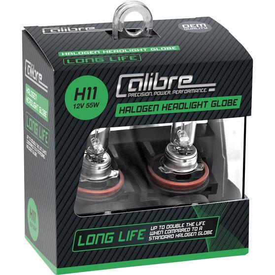 Calibre Long Life Headlight Globe H11 12V 55W, , scaau_hi-res