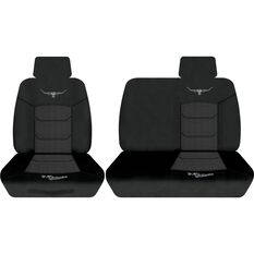Woven Ute Seat Cover - Black, Size 301, Front Bucket & Bench (w/out cut out), , scaau_hi-res