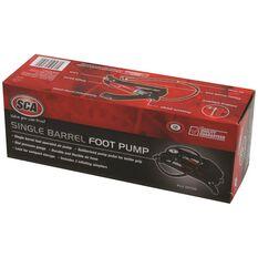 Foot Pump - Single Barrel, With Gauge, , scaau_hi-res