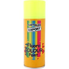 Aerosol Paint - Enamel, Fluoro Lunar Yellow, 125g, , scaau_hi-res
