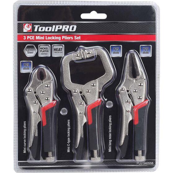 ToolPRO Mini Locking Plier Set - 3 Pieces, , scaau_hi-res