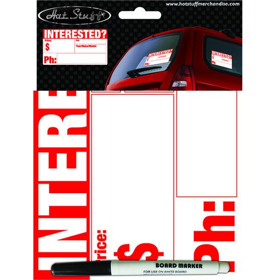 Hot Stuff Sticker - Interested?, Vinyl, , scaau_hi-res