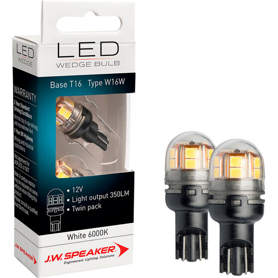 JW Speaker LED Wedge - T16, 12V, 6200K, W16W, , scaau_hi-res