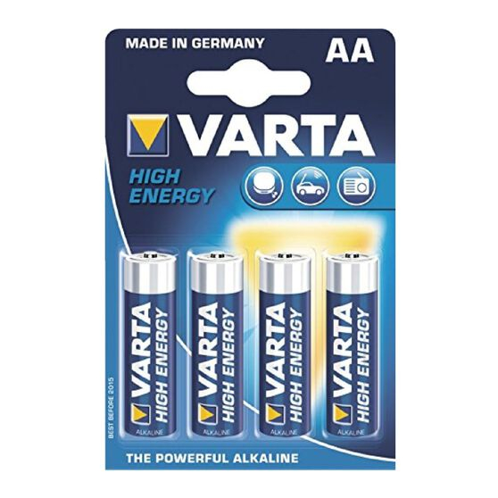 Varta High Energy Battery - AA, 4 Pack, , scaau_hi-res