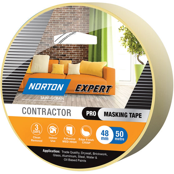 Norton Expert 3 Day Masking Tape - 48mm x 50m, , scaau_hi-res
