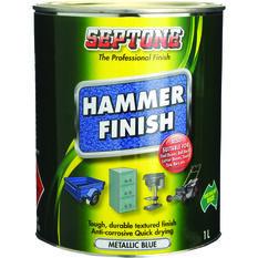 Paint - Hammer Finish, Metallic Blue, 1 Litre, , scaau_hi-res
