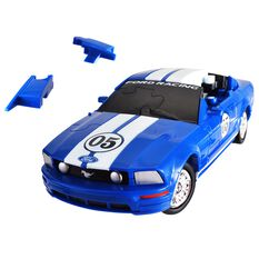 3D Ford Mustang Car Puzzle - 1:32 Scale, , scaau_hi-res