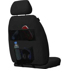 Caterpillar Neoprene Seat Covers - Black Adjustable Headrests Size 30 Front Pair Airbag Compatible, , scaau_hi-res