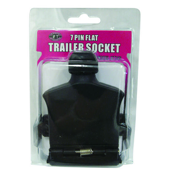 KT Cable Trailer Socket, Plastic - Flat, 7 Pin, , scaau_hi-res