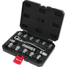ToolPRO Socket Set, Go-Through, Metric, 15 Piece, , scaau_hi-res