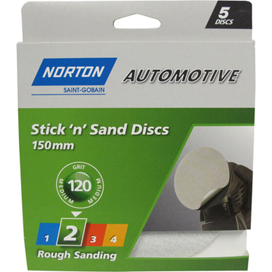 Norton Sticky Disc - 120 Grit, 5 Pack, , scaau_hi-res