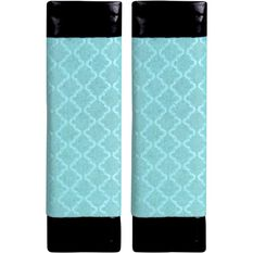 Metallic Print Seat Belt Buddies - Mint Green and Black, Pair, , scaau_hi-res