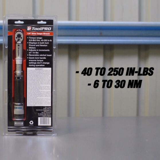 ToolPRO Torque Wrench - 1 / 4 inch Drive