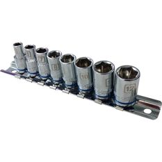"ToolPRO Socket Rail Set 1/4"" Drive Metric 8 Piece, , scaau_hi-res"