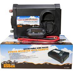 Ridge Ryder Pure Sine Wave Inverter 600W, , scaau_hi-res