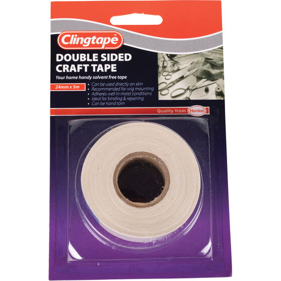 Clingtape Double Sided Tape - Craft, 24mm x 5m, , scaau_hi-res