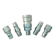 "Nitto Air Fitting Set Plug and Coupler 1/4"" 5 Piece, , scaau_hi-res"