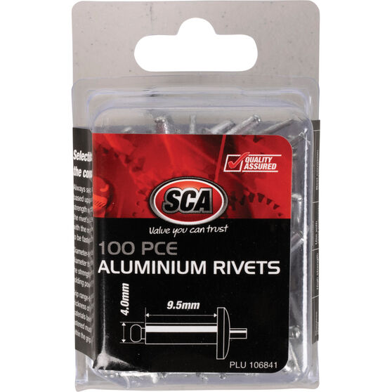 SCA Rivets - 4 x 9.5mm, 100 Piece, , scaau_hi-res