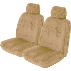 SCA Comfort Fur Seat Covers - Bamboo, Adjustable Headrests, Size 30, Front Pair, Airbag Compatible, , scaau_hi-res