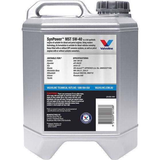 Valvoline Synpower MST Engine Oil 5W-40 10 Litre, , scaau_hi-res