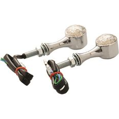 Motorcycle Indicators - LED, Metal Chrome, 2 Pack, , scaau_hi-res