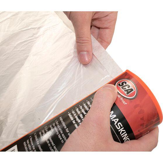 SCA Taped Masking Plastic Film - 1.8m x 33m, , scaau_hi-res